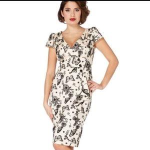 Ivory Voodoo Vixen Dita Wiggle Dress